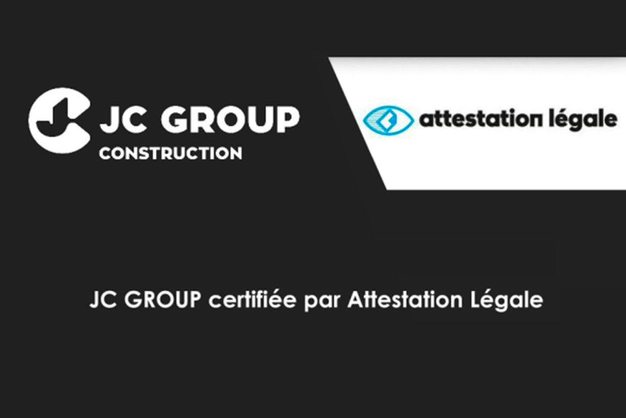 JC GROUP certificada pela Attestation Légale
