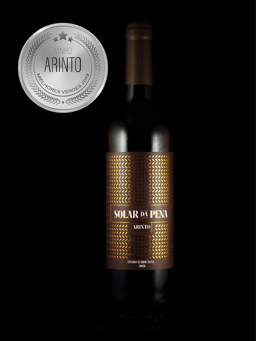 O vinho Solar da Pena Arinto, conquistou uma medalha
