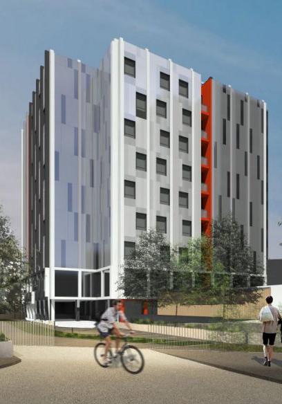 Reestruturação de um prédio habitacional em uma residência estudantil em GENTILLY